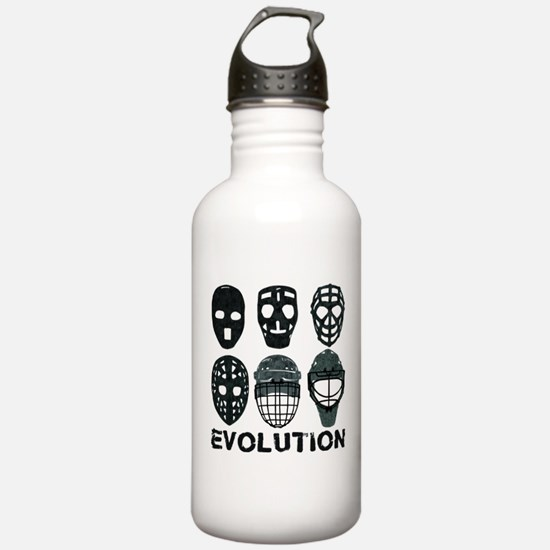 Hockey Goalie Mask Evolution Water Bottle