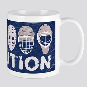 Hockey Goalie Mask Evolution Mugs
