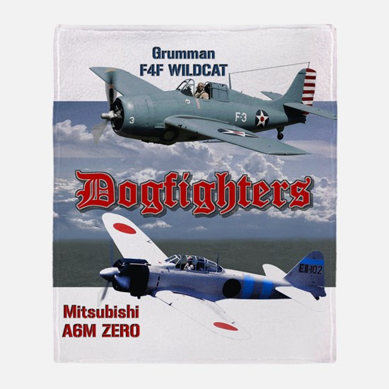 Dogfighters: F4F vs A6M Throw Blanket