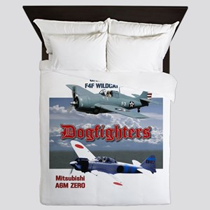 Dogfighters: F4F vs A6M Queen Duvet