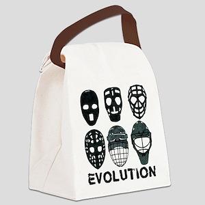 Hockey Goalie Mask Evolution Canvas Lunch Bag