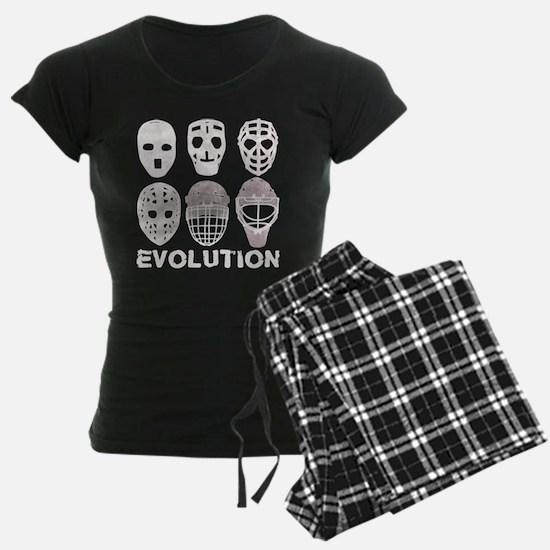 Hockey Goalie Mask Evolution Pajamas