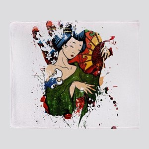 Geisha 2 Throw Blanket