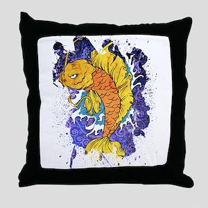 Koi Fish 2 Throw Pillow