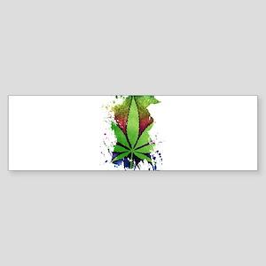 Pot Leaf Bumper Sticker
