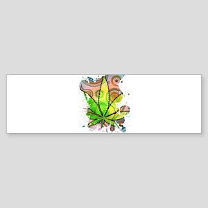 Weed Leaf Bumper Sticker
