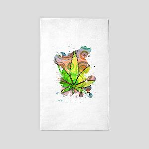 Weed Leaf 3'x5' Area Rug