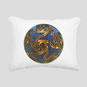 Faberge's Jewels - Blue Rectangular Canvas Pillow