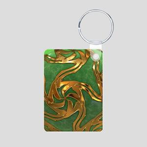 Faberge's Jewels - Green Aluminum Photo Keychain