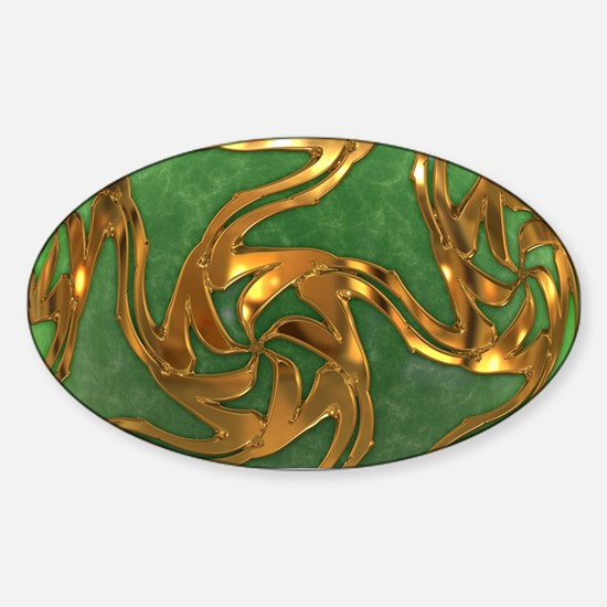 Faberge's Jewels - Green Sticker (Oval)