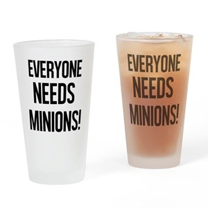minion drinking glasses cafepress