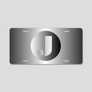 Polished Steel (J) Aluminum License Plate