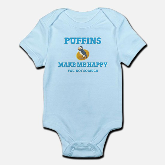 Puffins Make Me Happy Body Suit