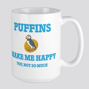 Puffins Make Me Happy Mugs