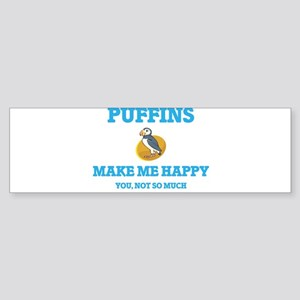 Puffins Make Me Happy Bumper Sticker