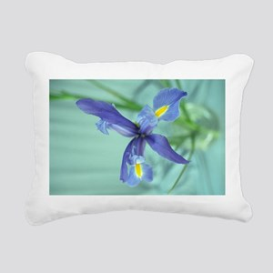 Awaken Purple Iris Rectangular Canvas Pillow