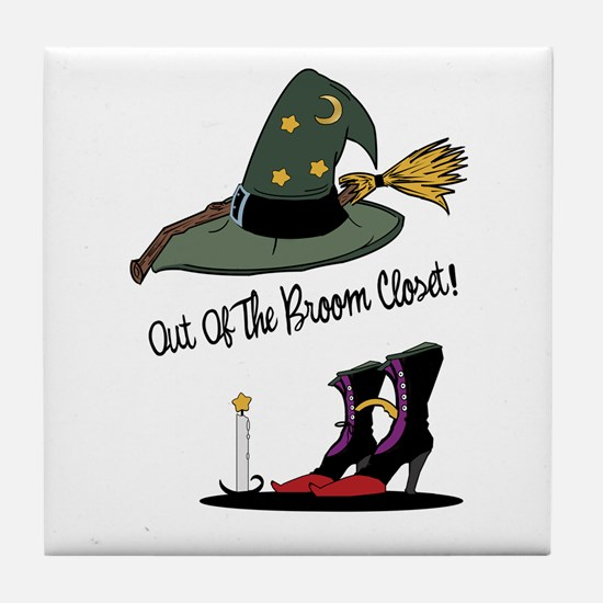 Out of the Broom Closet Tile Coaster