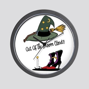 Out of the Broom Closet Wall Clock