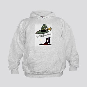 Out of the Broom Closet Kids Hoodie