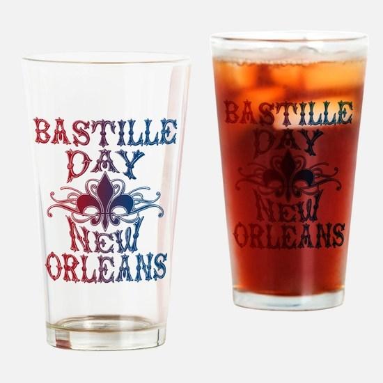Bastille Day New Orleans Drinking Glass