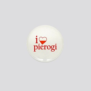 I Love Pierogi Mini Button