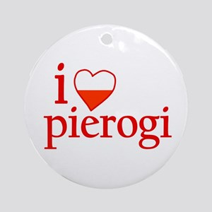 I Love Pierogi Ornament (Round)