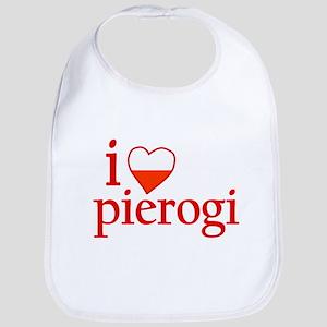 I Love Pierogi Bib