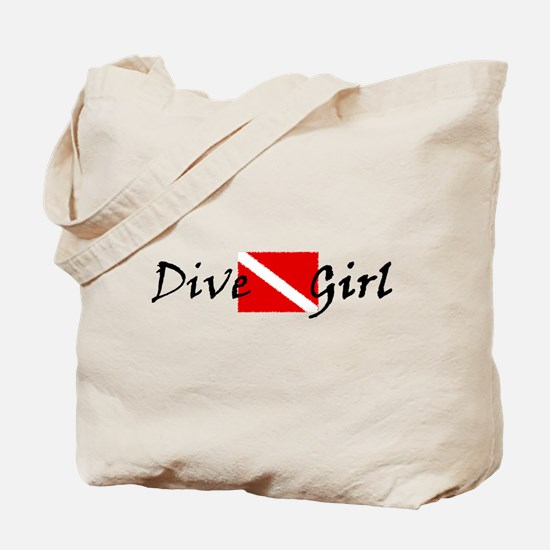 dive girl logo 1 black.psd Tote Bag