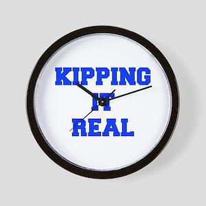 KIPPING-IT-REAL-FRESH-BLUE Wall Clock