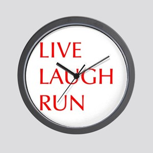 LIVE-LAUGH-RUN-OPT-RED Wall Clock