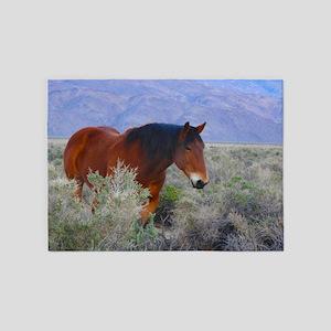 Valley Charm, Wild Horse 5'x7'Area Rug