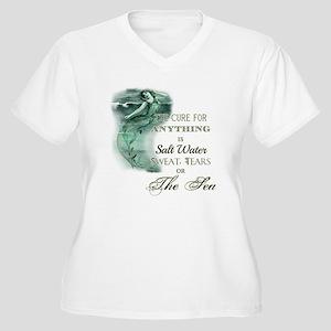 The Mermaids Cure Plus Size T-Shirt