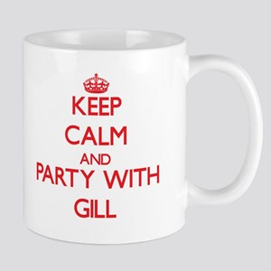 Keep calm and Party with Gill Mugs