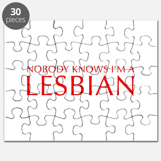 NOBODY-KNOWS-IM-A-LESBIAN-OPT-RED Puzzle