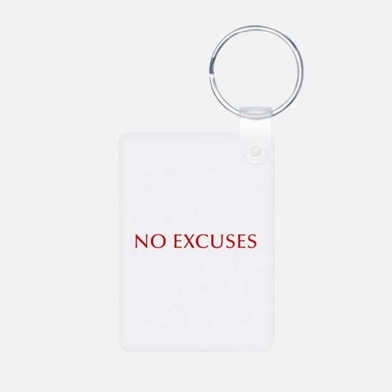 NO-EXCUSES-BOD-RED Keychains