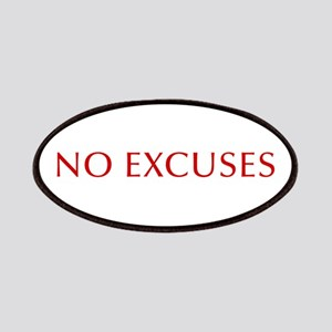 NO-EXCUSES-BOD-RED Patches