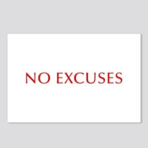 NO-EXCUSES-BOD-RED Postcards (Package of 8)