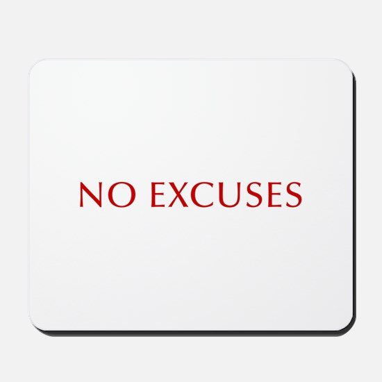 NO-EXCUSES-BOD-RED Mousepad
