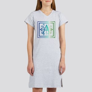 MONOGRAM A BLUEGREEN Women's Nightshirt