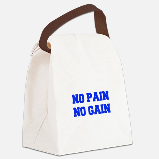 NO-PAIN-NO-GAIN-FRESH-BLUE Canvas Lunch Bag