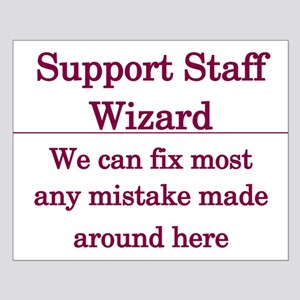 Support Staff Wizard Small Poster