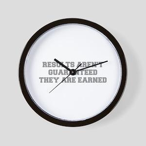 RESULTS-ARENT-GUARANTEED-FRESH-GRAY Wall Clock