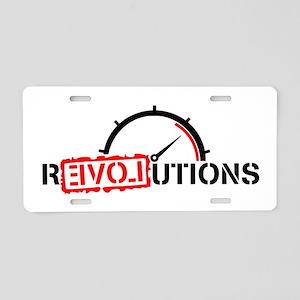 Revolutions Love Aluminum License Plate