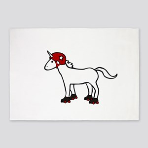 Roller Derby Unicorn 5'x7'Area Rug
