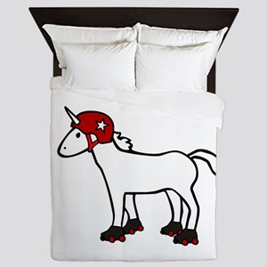 Roller Derby Unicorn Queen Duvet
