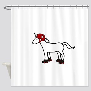 Roller Derby Unicorn Shower Curtain