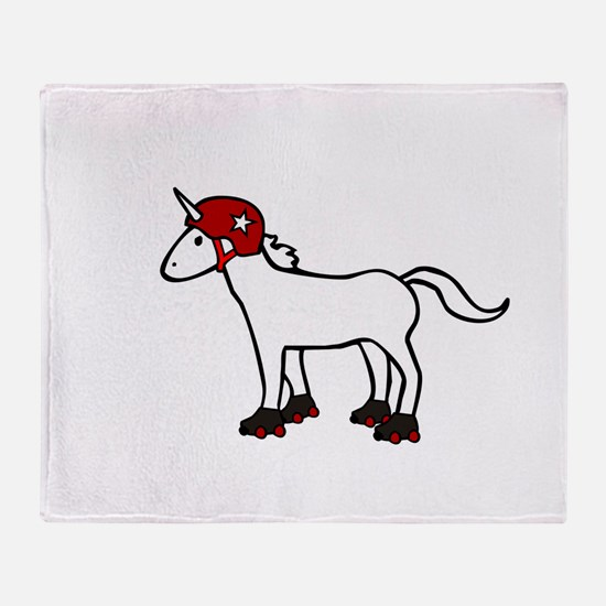 Roller Derby Unicorn Throw Blanket