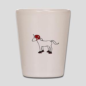 Roller Derby Unicorn Shot Glass