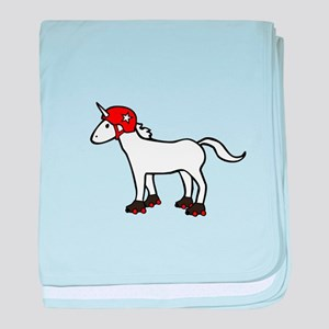 Roller Derby Unicorn baby blanket