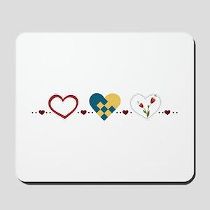 Scandinavian Hearts Mousepad